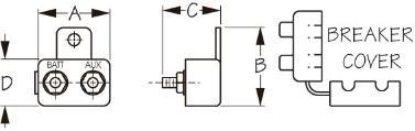 Boat Marine Circuit Breaker Manual Reset With Cover 50 Amp 420855